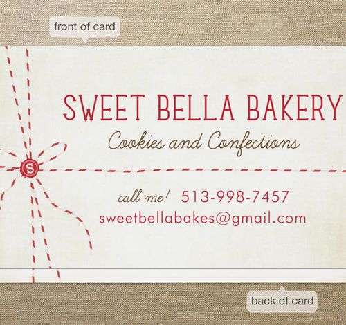 Bakers Twine Business Cards