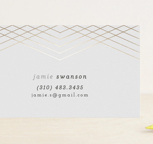 Galette Foil-Pressed Business Cards