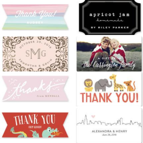 Custom Thank You Stickers -horizontal