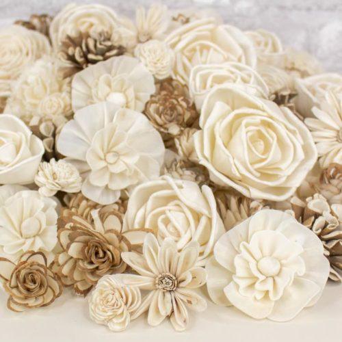 sola wood flowers raw assortment