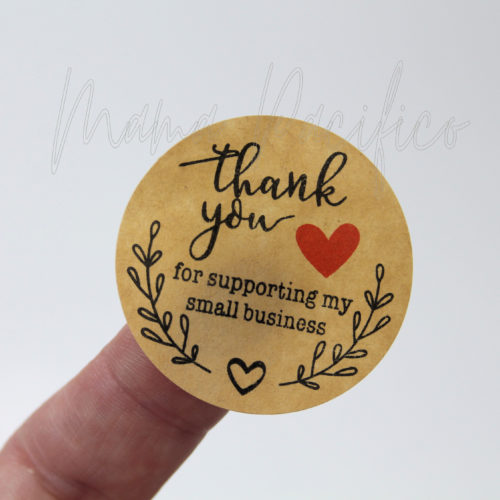 Kraft Thank You Stickers