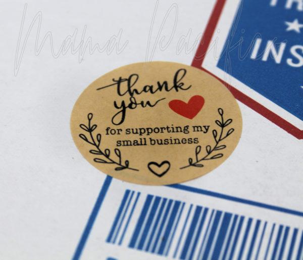 Kraft Thank You Stickers