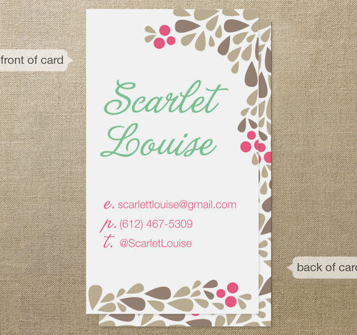 Scarlet Louise Business Cards