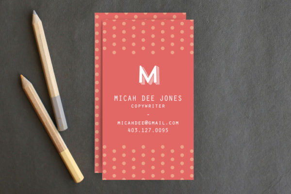 Oh So Peachy Business Cards