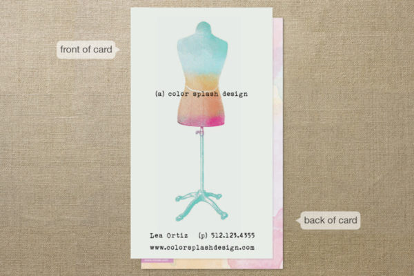 Color Splash Business Cards