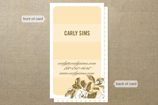 Stem Striate Business Cards