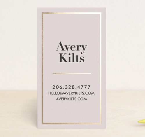 Bold Foil Frame Foil-Pressed Business Cards
