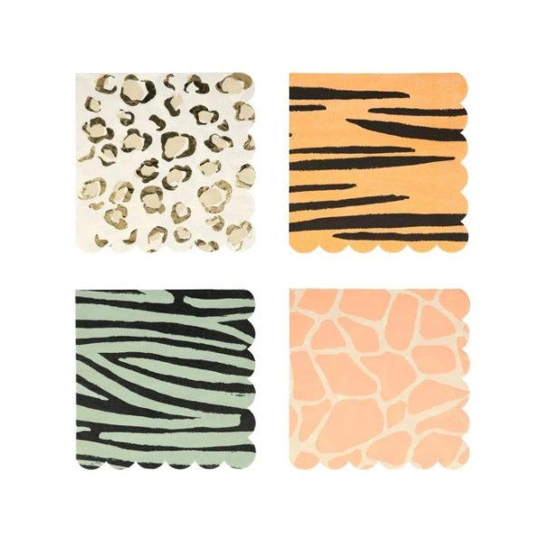 Safari Animal Print Dinner Napkins