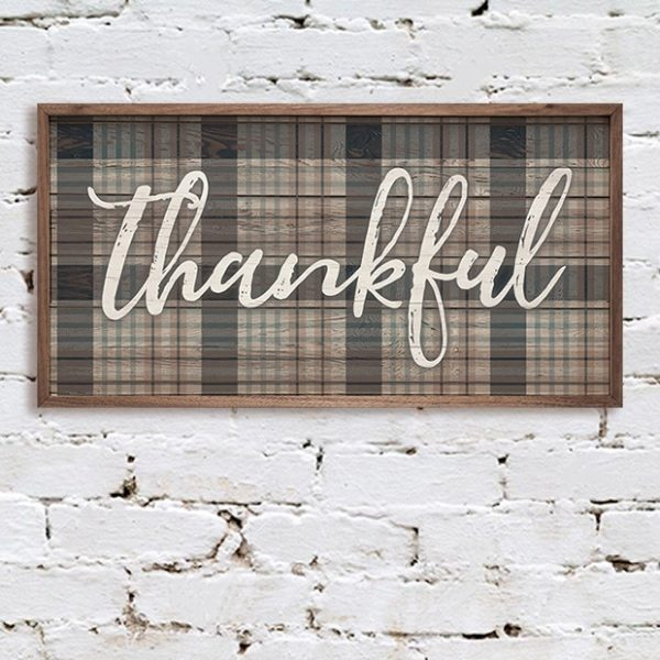 Thankful Plaid Wall Decor