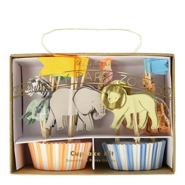 Safari Animal Cupcake Kit