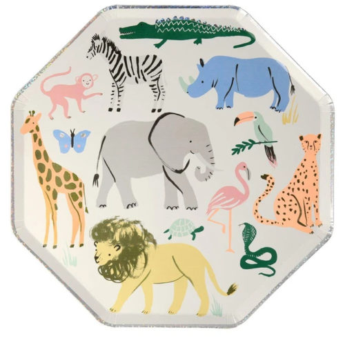Safari Animal Dinner Plate